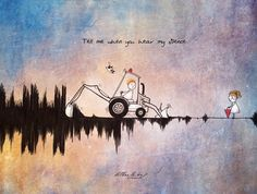 Letter - 'Tell me when you hear my silence' Art And Illustration, Illustrations Posters, Cute Couple Cartoon, Cute Couple Art, Painting Love Couple, Imagination Art, Anime Suggestions, Cute Stories, Cute Cartoon Wallpapers
