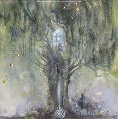 Vigil by puimun.deviantart.com on @DeviantArt Watercolor Illustration, Watercolor Paintings, Watercolour, Badass Drawings, Beautiful Fantasy Art, Fairy Art, New Art, Fairy Tales, Cool Art