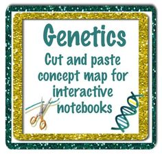 This genetics activity includes 15 genetics vocabulary words in which students will use to make a concept map. You can have them cut the words out and make their own map (in an interactive science notebook) or there is a template included where students can glue the words onto the map.