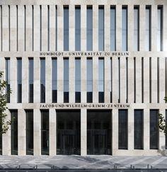 Jacob-und-Wilhelm-Grimm-Zentrum by Max Dudler Architects, photo by Stefan Müller Sten/repetisjon/solid/klassisk