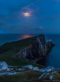 Photograph Neist Point in the moolinght by Teresa Mazur on 500px