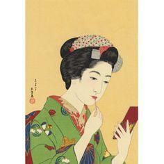 紅筆を持てる女(京舞妓)