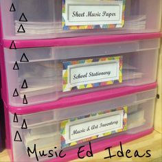 Music Education Ideas - organization!