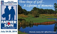 Don't miss the largest father-son golf event in the world!  We're celebrating generations of golf enthusiasts in Myrtle Beach with the 17th Annual National Father & Son Team Classic, held July 24-26. To register and see schedule of events, click here www.fathersongolf.com.