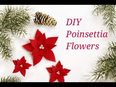 DIY Poinsettia Flower using Felt and add a pop of color to your Christmas decorations. These felt poinsettia flowers can be sewn on to pillow covers or can b. Diy Christmas Tree, Christmas Tree Toppers, Christmas Bells, Felt Christmas, Christmas Wreaths, Christmas Decorations, Christmas Ornaments, Christmas 2017, Outdoor Christmas