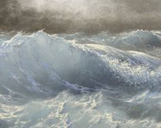 435 océan Pacifique 5 x 7 original par vladimirmesheryakov