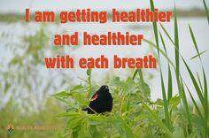 I am getting healthier and healthier with each breath - Health Manifested  #healthmanifested #healthiernhealthier #healthier  #healthyhappylife #wellnessjourney #nourishyourself #fitforme #justbreathe #lookwithin #inspirationdaily  #Mindset #Success #Inspire #ThinkBig #Believe #Motivate #instamotivation #life #LOA #lawofattraction #power #motivation #inspiration #quotes #dreams #morningmotivation #hope #havemotivation #onlymotivation #IAm #raiseyourvibrations #mindbodyspirit #mindbodysoul Law Of Attraction Meditation, Law Of Attraction Quotes, Mind Body Spirit, Mind Body Soul, Inspiration Quotes, Motivation Inspiration, Healthy Inspirational Quotes, Morning Motivation, Yoga Meditation