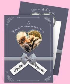 Faire-part de mariage, réf.N24165, élégant et raffiné pour accompagner la cérémonie de vos rêves.