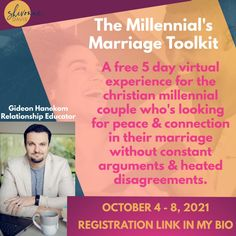 If you're ready to stop engaging in those recurring arguments, release that awkward silence and feelings of disconnect, or just overall take your communication to the next level, then you should sign up for The Millennial's Marriage Toolkit 5-Day Virtual Experience. Click the link to learn more! Best Relationship Advice, Healthy Relationships, Awkward, Communication, Marriage, Peace, Sign, Education, Feelings