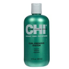 CHI Curl Preserve Treatment 12oz is a low pH intense conditioning treatment Helps nourish & recover hair bouncy Formulated with Ceramino Interlink Complex Loaded with CHI 44 Ceramic Technology, amino acids & proteins Delivers vitality, volume & conditioning to hair Balances hydration composition to an ideal level Shields hair color from fading Unveils radiant, perfectly-defined & frizz-free curls. $15.95