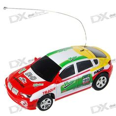 Model: 2015 - Frequency: 35MHz - Ready to run and no assembly needed 4-direction remote controller - Display it with the box stand when not using, a cool decoration - Super light and high speed - Car rechargeable by uses the remote control - Control Distance: 6 - 20 meters - Run Time per charge: approximately 6 - 10 minutes - Power (Controller): AA battery x 2 (not included) http://j.mp/1v35D1y