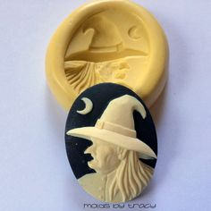 40X30MM Witch Halloween Cameo Silicone Mold Mould Soap Mold Resin Mold Polymer Clay Mold Fondant Mold Candy Gumpaste Molds Halloween Molds by MoldsByTracy on Etsy