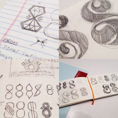 Sketches of ST8MNT's new business card concepts