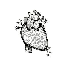 99 Insanely Smart, Easy and Cool Drawing Ideas to Pursue Now - Herz 1 Tattoo, Symbol Tattoos, Holz Tattoo, Tattoo Minimaliste, Handpoked Tattoo, Object Drawing, Anatomical Heart, Anatomy Art, Wooden Hearts