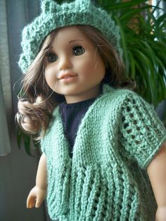 Ravelry: Spring Sweater for American Girl Dolls pattern by Janet Longaphie