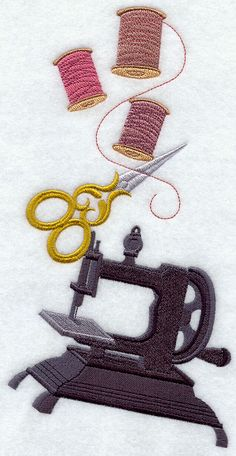 Ye Olde Sewing Stack design (G6004) from www.Emblibrary.com
