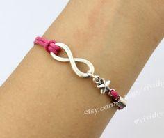 Infinity star charm bracelet wax rope style bracelet by vividiy, $2.29