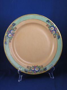 Haviland Limoges Arts & Crafts Enameled Floral Motif Plate (c.1894-1931)