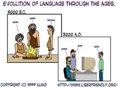 Evolution of language through the ages
