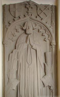 Gipsabguss des Grabsteins für Deutschmeister Jost von Venningen in Schloss Horneck in Gundelsheim  fot. Peter Schmelzle