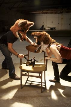 crochets masks clever foxes belittle the man.