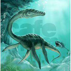 Underwater Dinosaur Shower Curtain on CafePress.com