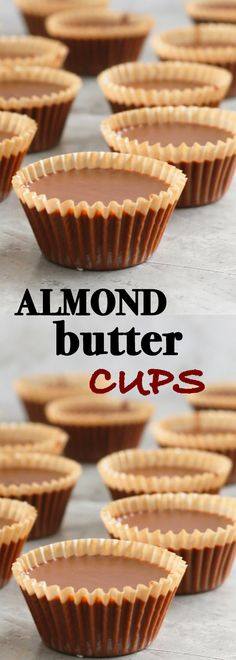 Low Unwanted Fat Cooking For Weightloss Almond Butter Cups Homemade Almond Butter Cups Recipe Using Almond Butter, Almond Butter Snacks, Homemade Almond Butter, Butter Recipe, Vegan Appetizers, Vegan Desserts, Appetizer Ideas, Chocolates, Candy Recipes