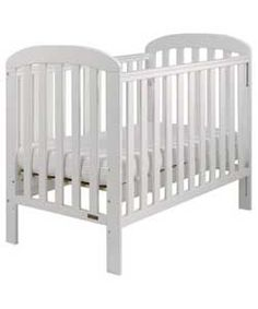 East Coast Anna Drop Side Cot - White.