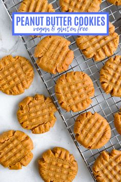Vegan Peanut Butter Cookies- Veggie World Recipes. The easiest, most delicious vegan and gluten free peanut butter cookies. Made with clean and healthy ingredients, these make for a great snack for kids. This is truly one of my favorite recipes! Vegan Dessert Recipes, Healthy Desserts, Vegetarian Recipes, Healthy Recipes, Veggie World, My Favorite Food, Favorite Recipes, National Cookie Day, Gluten Free Peanut Butter Cookies