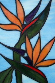 STAINED GLASS  Tropical Bird of Paradise by SunflowerGlassworks, $90.00