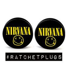 Nirvana Plugs by RatchetPlugs on Etsy, $13.00