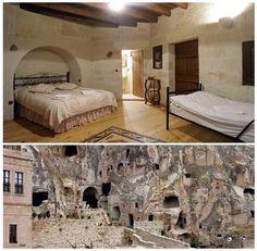 洞窟ホテル『ビレッジ・ケーブ・ホテル』 in トルコ♪ (・∀・)。