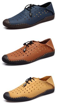 Men Hollow Out Two Wearing Ways Breathable Stitching Outdoor Casual Shoes