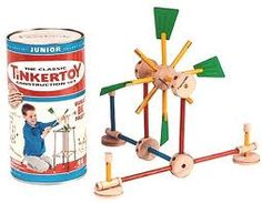 I had Tinker Toys in the late 1950's.