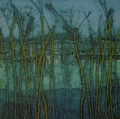 Down To Earth Gallery: Sarah Ross-Thompson Fine Art Printmaker collagraph prints of landscapes Collagraph Printmaking, Gelli Printing, Sarah Ross, Mark Making, Painting Inspiration, Art Forms, Landscape Paintings, Abstract Art, Illustration Art