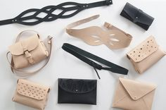 Safia Stodel's Ilundi genuine leather accessories embody simplicity and style. Leather Projects, Leather Accessories, Cape Town, Card Case, Clutch Bag, Leather Bag, Personal Style, Coin Purse, Wallet