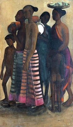 South Indian Villagers : Amrita Sher-Gil : circa 1937 : Fine Art Giclee Print #Painting