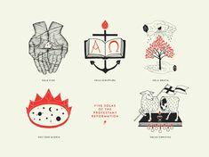 Solas of the Reformation – Scott Erickson Art Shop Reformation Day, Protestant Reformation, Encouraging Bible Verses, Bible Verses Quotes, Cinco Solas, Christus Tattoo, Cliche Tattoo, Sola Fide, 5 Solas