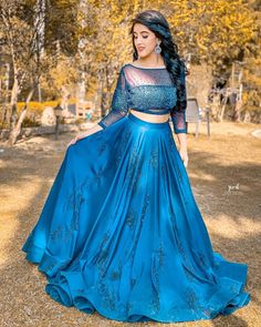 trendytrendzz on March 22 2020 1 person standing and outdoor Indian Bridesmaid Dresses, Indian Gowns Dresses, Indian Fashion Dresses, Indian Wedding Outfits, Indian Outfits, Party Wear Lehenga, Party Wear Dresses, Bridal Lehenga, Lehnga Dress