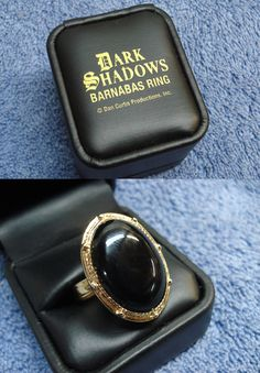 Dark Shadows (1966-1971, ABC) — 1960s adjustable Barnabas Ring (I would have killed for this when I was a kid! I can't believe I never owned one!)