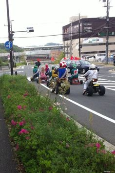 Real Life Mario Kart - The CaffiNation...my kids would do this!