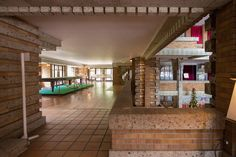 Imperial Hotel. Frank Lloyd Wright. Tokyo, Japan. 1916. (Demolished). Lobby reconstructed. Photo ©2013, Evan Chakroff.