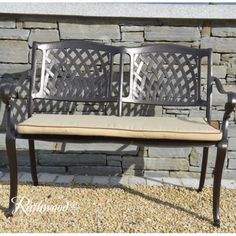 Bench: Fully cast bench with cream seat pad included. Dining Bench, Dark, Furniture, Ideas, Home Decor, Decoration Home, Table Bench, Room Decor