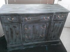 Real Milk Paint DIY dresser by our fan Felicia Cross! Thank you!