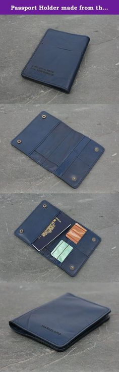 Passport Holder made from the interior of a 1999 Audi Quattro. This unique Passport Holder is made from the original leather seats of a 1999 Audi Quattro. Every design from our Drive Collection is a one of a kind piece transforming vintage luxury car interiors in contemporary accessory art. Features: * SECURE SNAP CLOSURE * EXTERIOR SLOT FOR BOARDING PASS * 2 SLOTS FOR CARDS * PASSPORT COMPARTMENT * EXTRA DOCUMENT POCKET BEHIND CARDS * 10 X 15 CM (4 X 5 3/4 INCH).