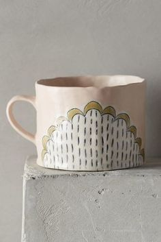 Anthropologie Running Stitch Mug #anthrofave #homedecor