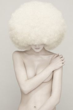 model Beata V. (photographed by Javier Garceche & Luis de las Alas) for NEO 2 issue October 2011 [white on white afro]