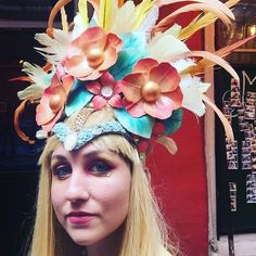 #headdress #costume #nola #frenchquarter #easter #headpiece by c_to_the_line