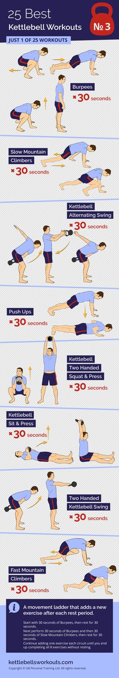1 of 25 full body kettlebell and bodyweight workouts that will burn fat and improve your cardio. #kettlebell #bodyweight #workout