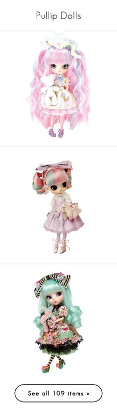 """""""Pullip Dolls"""" by grandmasfood ❤ liked on Polyvore featuring filler, toys, lolita, pink, dolls, kawaii, extra, fillers, anime and steampunk"""